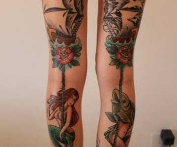 Gorgeous mermaids tattoos