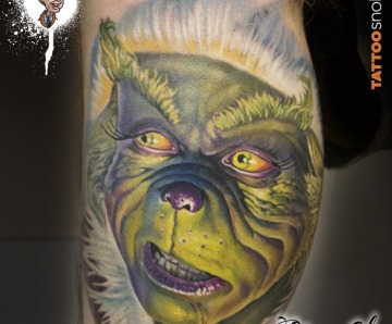Grinch christmas tattoo