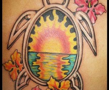 Honu turtles tattoos