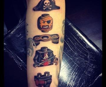 Lego man tattoos