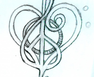 Love And Music Tattoos