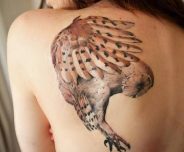 Lovely owl tattoos