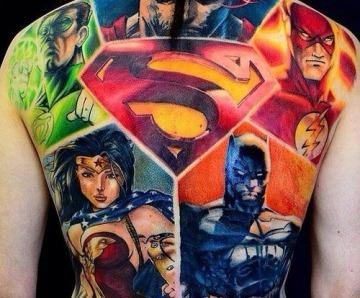 Marvel's superheroes tattoo designs