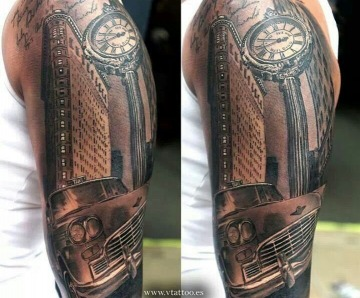 Modern car's tattoos