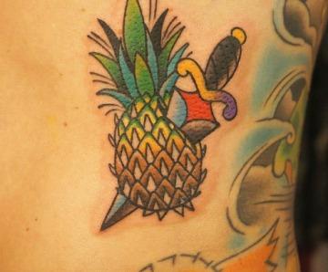 Pineapple tattoos