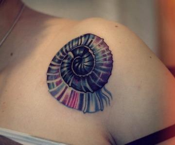Sea shell tattoos