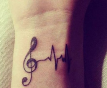 Tattoos related with music