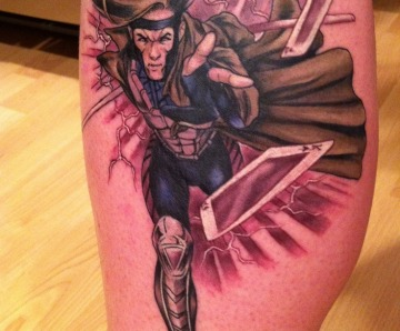 The X-men tattoos