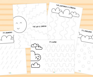 Tracing Lines Worksheets For A Kids Initial Learning