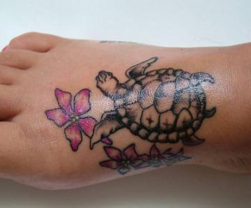 Turtle Tattoos On Foot