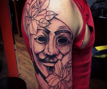 V for Vendetta tattoos
