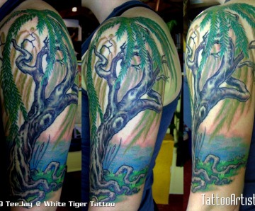 Weeping Willow Tree Tattoo