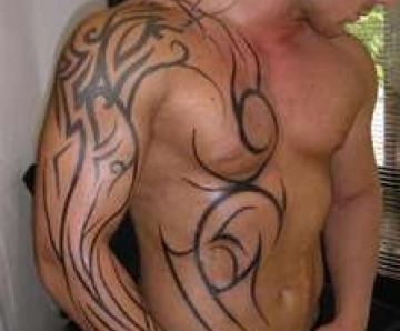 Wonderful looking men's shoulder tattoos
