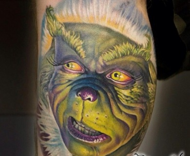 11 Grinch Tattoos Just In Time For Christmas
