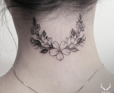 24 Breathtaking Flower Tattoos By Zihwa