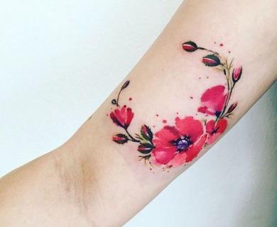 39 Luxurious Poppy Tattoos