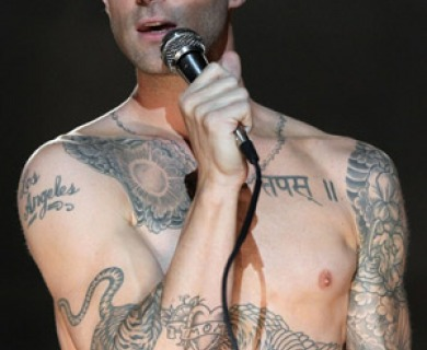 Adam Levine Tiger Tattoo