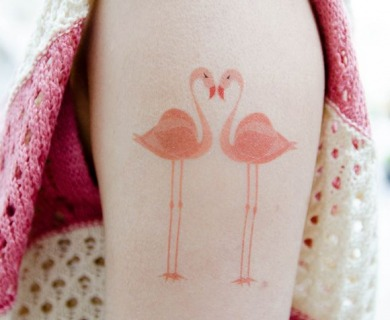 Amazing flamingo tattoos