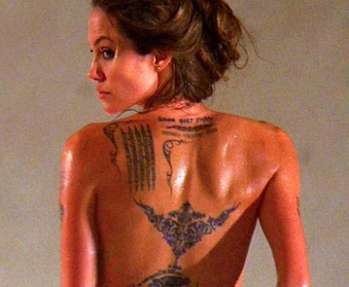 Angelina Jolie Wanted Tattoos