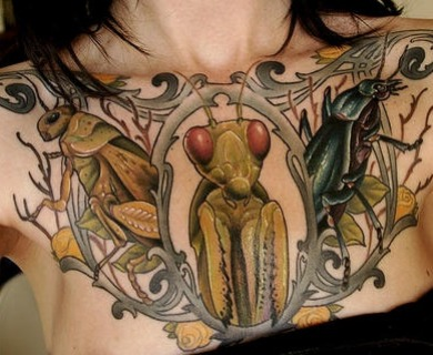 Awesome insects tattoos