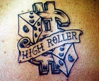Awesome style dice tattoos