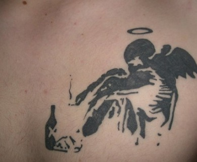 Banksy graffiti tattoo
