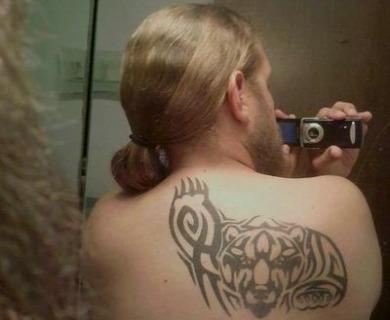 Bear tattoos on back