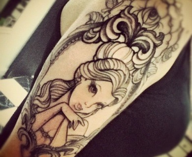 Beauty and the beast tattoos