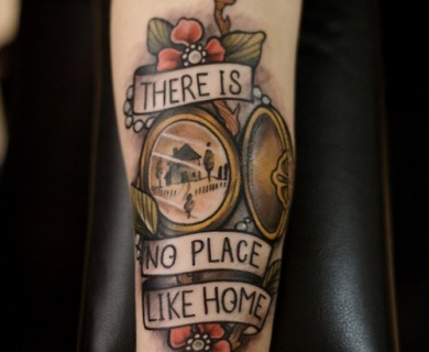 Black houses tattoos