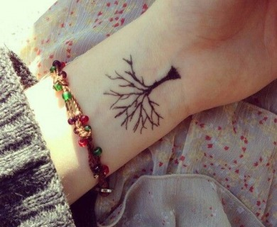 Cool black tree tattoos
