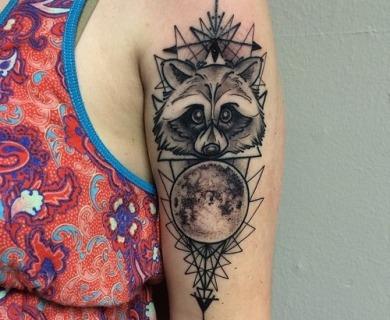Creative raccoon tattoos