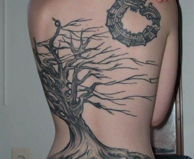 Dead tree tattoos