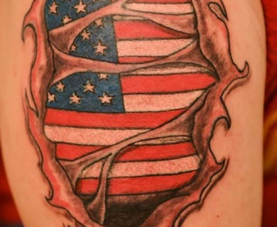 Different flags tattoo