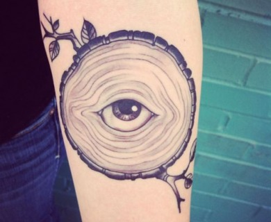 Eyes tattoos on arms