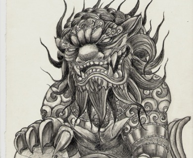 Foo Dog Tattoo Designs