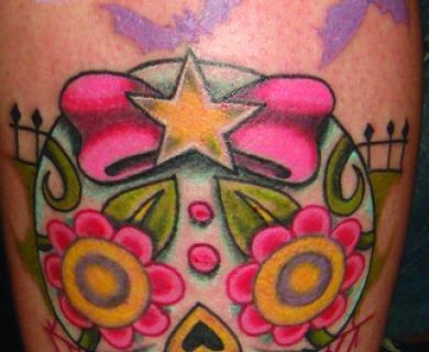 Girly Sugar Skull Tattoos