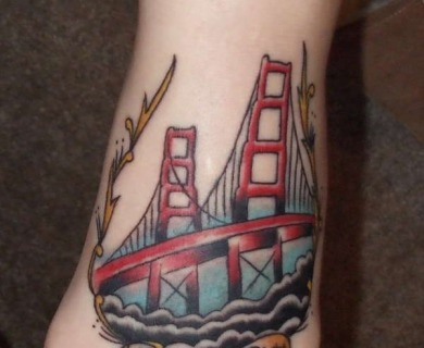 Golden Gate Bridge Tattoo
