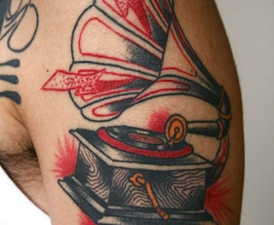 Gramophone tattoos