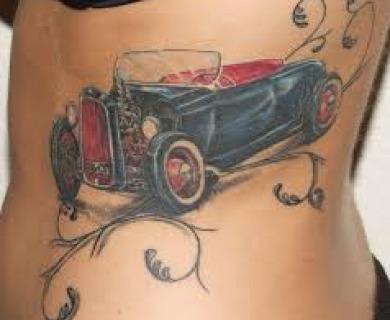 Great cars design tattoos