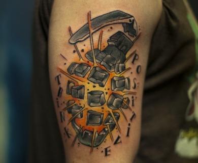 Grenade tattoos