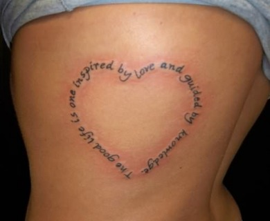 Heart Tattoo With Words