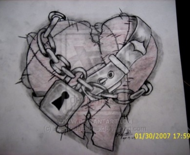 Heart With Chains Tattoo
