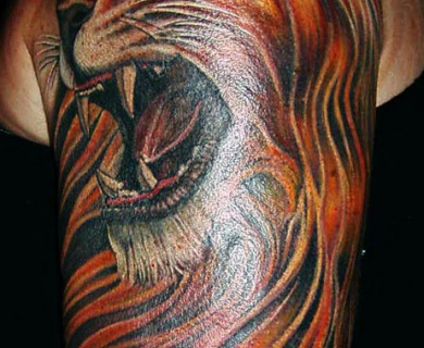 Lion Face Tattoo Designs
