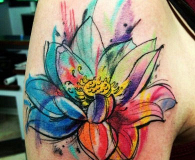 Lotus flowers tattoos