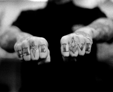 Love Hate Tattoo Meaning