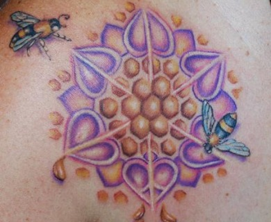 Lovely bee tattoos