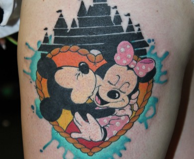Minnie and Mickey tattoos