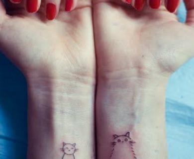 Pretty cats tattoos