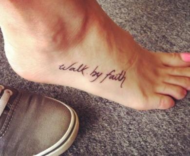 Pretty feet tattoos