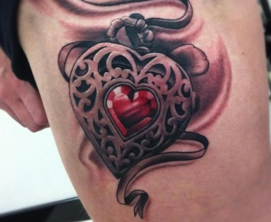 Pretty locket tattoos